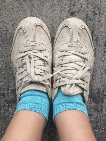 vintage or old sneaker