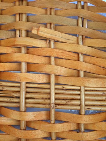 back: Background texture pattern of wood weave Stock Photo