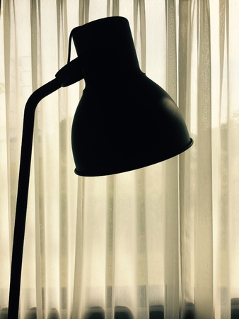 lamplight: Backlight picture, black lamp in living room