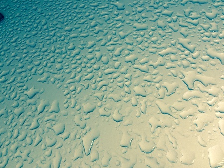 aqua: water drops on glass after rain Background texture pattern Stock Photo