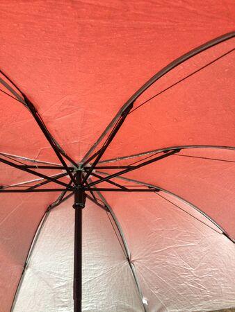 Photo under orange umbrella