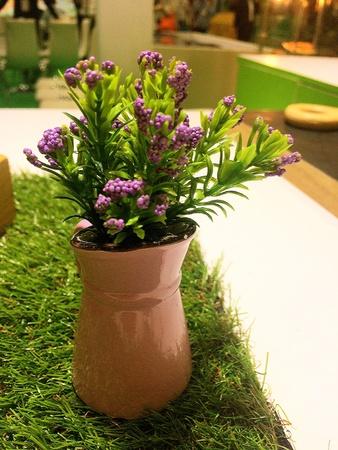 Violet flower vase