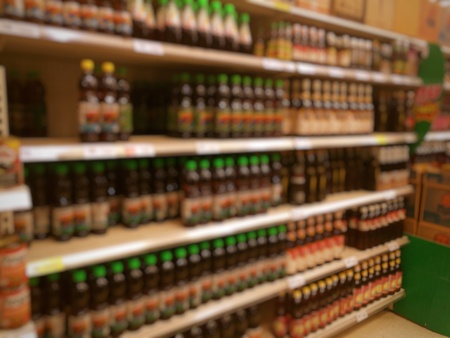 warehouse: blur photo of supermarket background, business concept