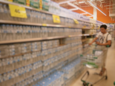 selected: blur photo of supermarket background, business concept