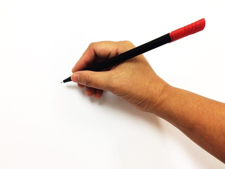 The pen handles can be used for various presentations with a white background and copy space.