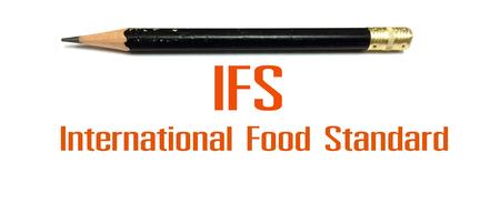 IFS 符号、記号、国際食品規格の写真コンセプト