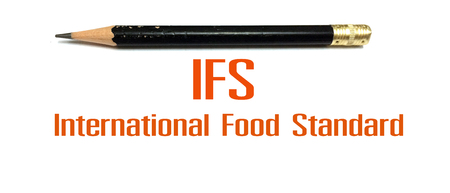 photo concept of IFS sign or symbol, International Food Standard
