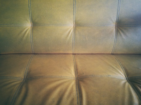 rough: Old vintage leather sofa