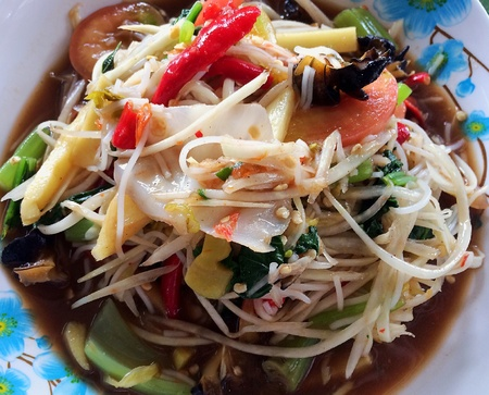 style: Somtum is famous Thai food