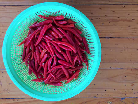 colorful: close up raw fresh red chili Stock Photo