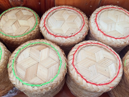 Sticky rice, the main food of the Northeast in Thailand
