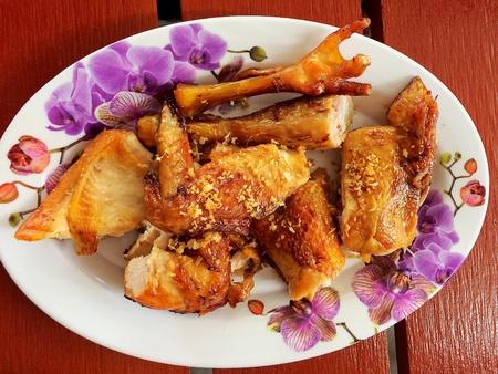 Fried Chicken in Plate