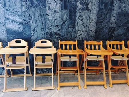 Baby High Chairs in restaurant