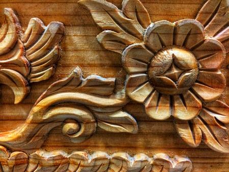 flower on wood texture pattern background