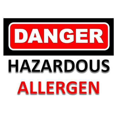 Signs of danger to be aware of allergen Stok Fotoğraf - 103488911