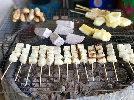 Grilled bananas, local Thai food dessert