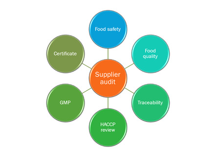 picture diagram of  Supplier audit system