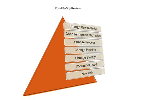 picture diagram of  Food Safety Review system