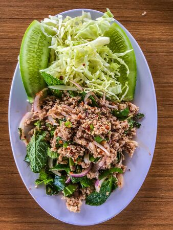 Pork loin, Northeast food or Isaan food, Thai cuisine and travel concept