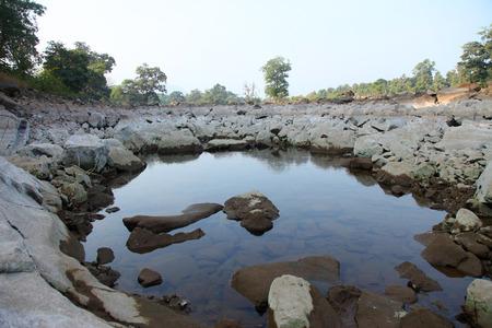 Beautiful tansa lake landscapes in maharashtra india Stock Photo