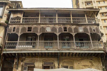 Mumbai, Maharashtra India August 12, 2019  building at Mumbai street at fort in Maharashtra India August 12, 2019