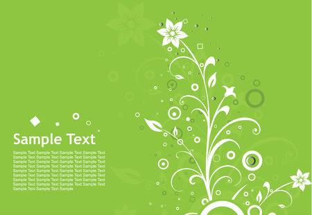 abstract floral retro background with place for your sample text Vector