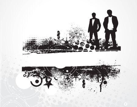 sample text: bussinessman silueta con antecedentes grunge texto de ejemplo