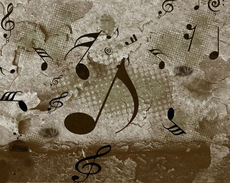grunge and half musical note background photo