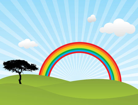 this is a Vector rainbow Stock Vector - 4489883
