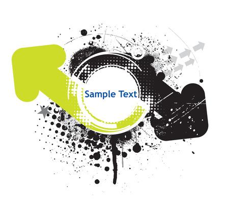 sample text: Resumen grunge flecha onda media l�nea de fondo con texto de ejemplo