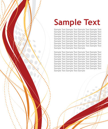 abstract halftone wave lines with sample text background Vector
