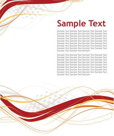 sample text: Resumen de las l�neas de onda de semitonos con fondo de texto de muestra Vectores