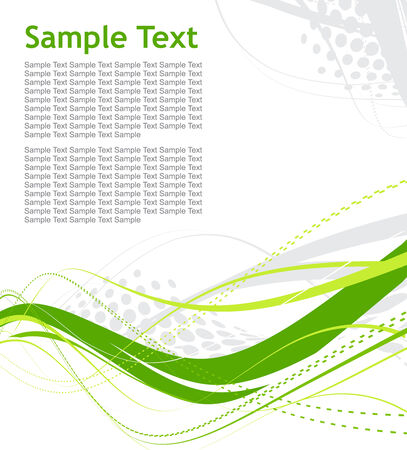 sample text: resumen de onda media de l�neas de fondo con texto de ejemplo Vectores