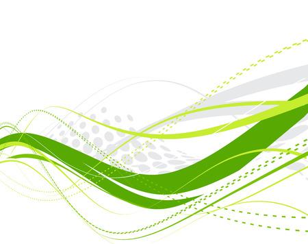 verde y morado: resumen de media tinta azul de onda l�neas de fondo Vectores