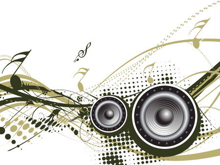 lien: Music notes with halftone wave lien background