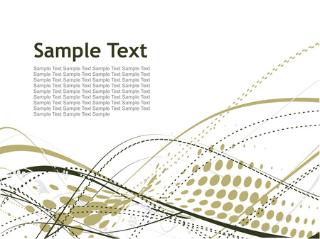 abstract blue wave halftone lines with sample text background Stock Vector - 4743561