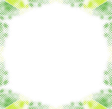 Vector Grunge halftone Border Frame Illustration