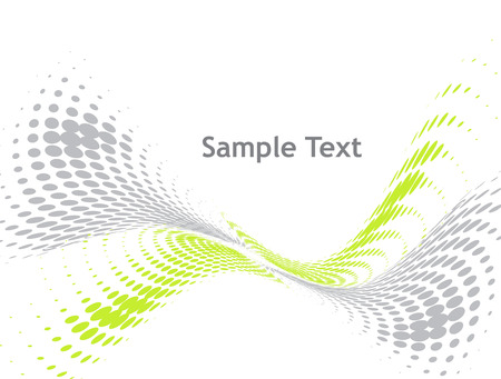abstract wave halftone background with sample text Vector