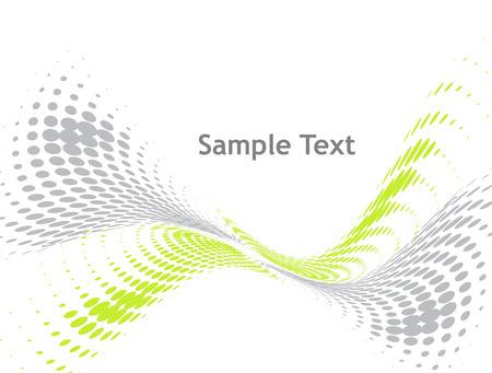 sample text: resumen de antecedentes de medios tonos de la onda con texto de ejemplo Vectores