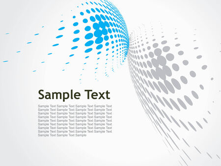 abstract blue wave halftone background Vector