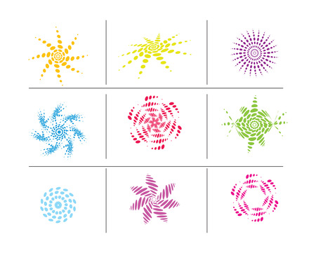 Halftone diffrent-2 elements for vector design Vector