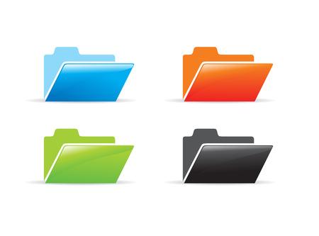 diffrent color vector folder icon  Vector