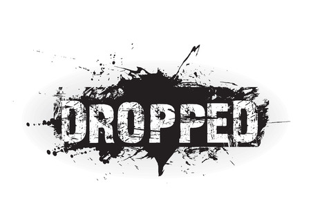 Dropped grunge icon,rubber stamps Vector