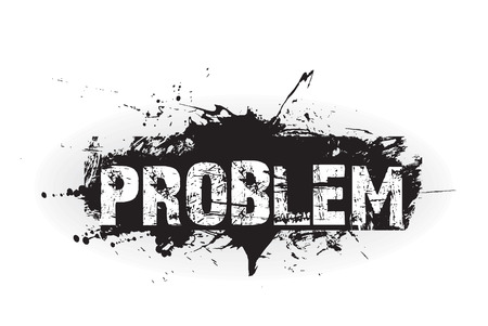 Problem grunge icon,rubber stamps Vector