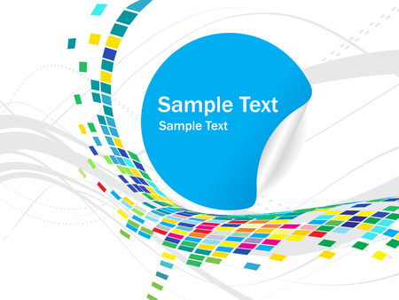 abstract mosaic vector composition wih samaple text icon background Vector