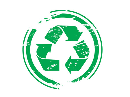 grunge recycling symbol rubber stamp ,vector illustration Stock Vector - 4743378