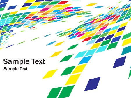 abstract mosaic vector composition with sample text background Vector