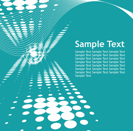 abstract wave halftone lines background with sample text Vector