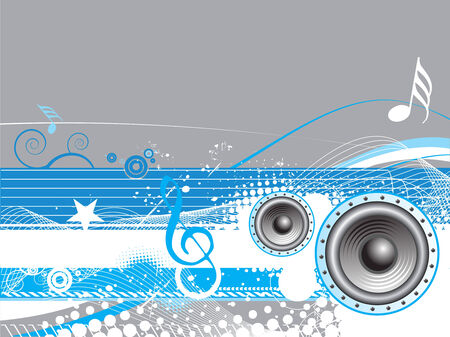 floral grunge music wale line background Vector