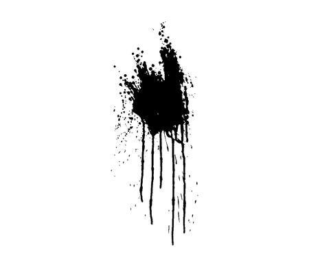 grunge style blood splatter , vector illustration Vector